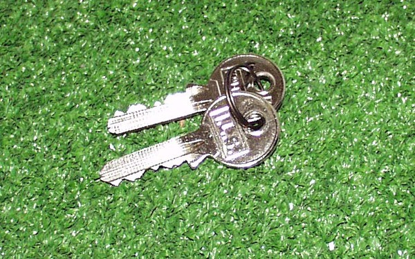 Spare set of two keys for goal post locks