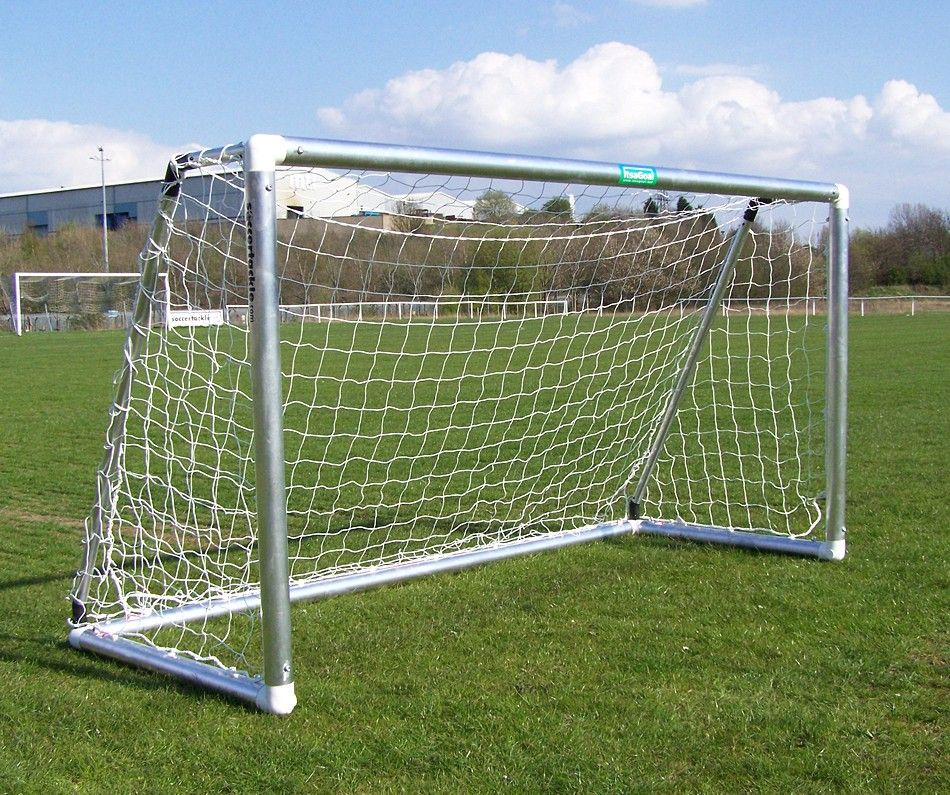 ALUMINIUM FOOTBALL GOALS - FLAT PACK - PAIR OF GOALS - 8 x 6