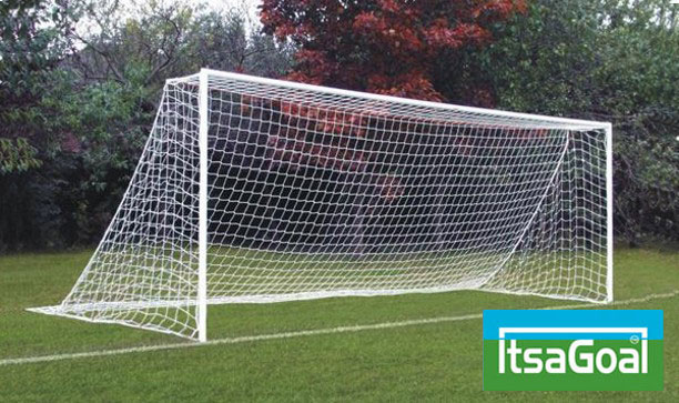 STEEL CLUB GOAL  PACKAGE -  ANTI-VANDAL  INCLUDES GOAL NETS & SUPPORTS - 24 X 8