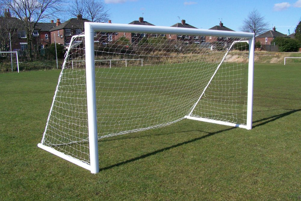 ALUMINIUM FOLDING GOAL - ELLIPTICAL -  8 x 6