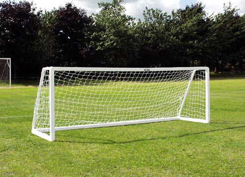 Five a side Goal 3.6M x 1.2M high Impact uPVC ( 3 section crossbar version) - 12 x 4