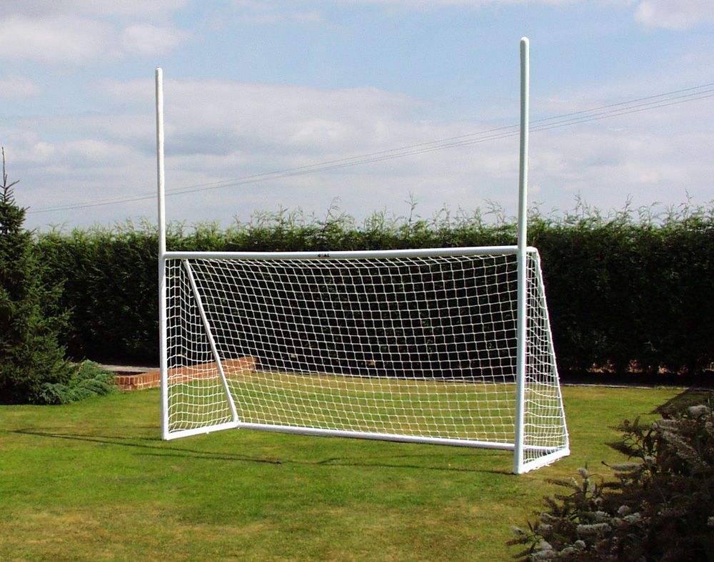 Gaelic Goal post two section uPVC posts with 8' top posts - 12 x 6