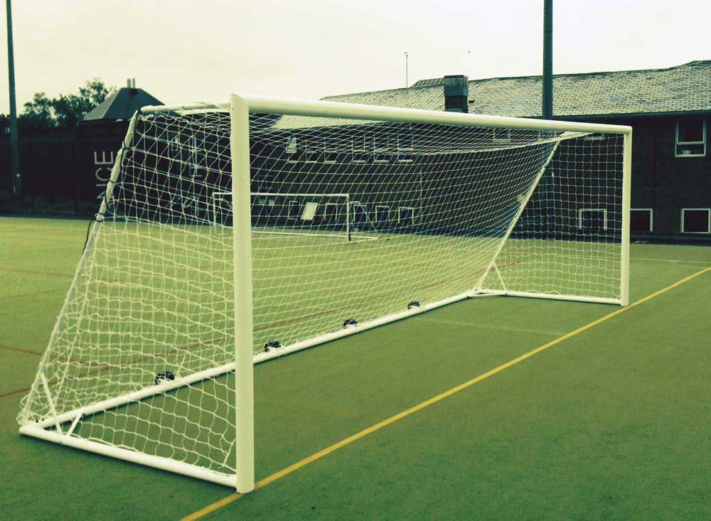GOALPOSTS - WITH WEIGHTED REAR ROLLER (PAIR) - 12 x 6