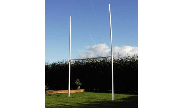 Rugby Goal posts - Mini - High impact uPVC - adjustable crossbar height - Total height 4.72mx2.7m