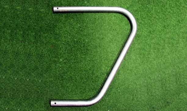 SET OF SMALL STEEL GOALPOST NET SUPPORTS FOR FIXED POSITION GOALS