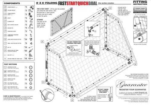 fast start quick play folding goalposts